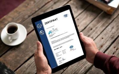 ISO 14001 Zertifizierung der aLIVE-Service GmbH: Natürliche Ressourcen bestmöglich schonen